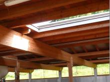 Dachöffnung über Gangzone